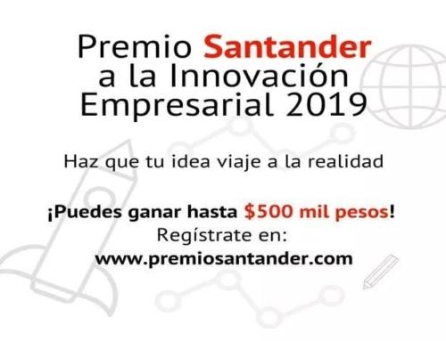 Estudiantes pueden ganar hasta 500 mil pesos participando en el Premio Santander 2019
