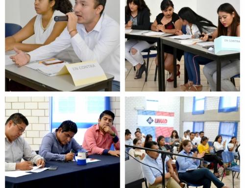 Alumnos de UMAD Papaloapan cierran semestre con práctica de debate
