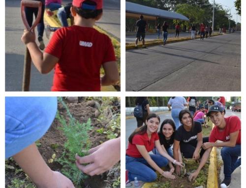 Alumnos de bachillerato UMAD participan en campaña de reforestación urbana